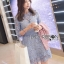&#x1F380Lady Ribbon's Made &#x1F380Lady Ariana Sweet Feminine French Lace Dress in Light Blue thumbnail 4