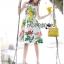 Lady Ribbon Korea's Made &#x1F380 Lady Rosie English Roses Printed White Sleeveless Dress thumbnail 6