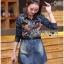 Dress Lady Ribbon Korea Dress เชิ้ตเดรสผ้าเดนิม thumbnail 6