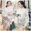 Lady Ribbon's Made &#x1F380 Lady Cara Feminine Flare-Sleeve Lace Blouse Korea Dress thumbnail 1