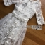 Lady Ribbon White Tulle and Lace Dress thumbnail 6