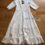 Lady Clemence Ruffle Embroidered White Cotton Dress thumbnail 3