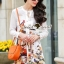 Lady Ribbon Korea Brand SS06300516 Seoul Secret Say's... Flamingo Print Girly Dress thumbnail 2