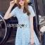 Lady Ribbon Korea Dress ลูกไม้ LR16130616 &#x1F380 Lady Ribbon's Made &#x1F380 Lady Rebecca Little Star Crystal Embroidered Lace Dress เดรสผ้าลูกไม้ thumbnail 1