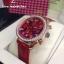 Omega Speedmaster Chronograph 38 MM Ladies - Red/Diamonds thumbnail 4