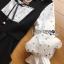 Black & White Lady Ribbon Polkadot Dress thumbnail 5