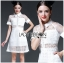 Lady Ribbon's Made &#x1F380 Lady Taylor Sweet Preppy Collared White Korea Lace Dress thumbnail 2