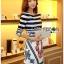 Lady Ribbon Korea Printed Dress thumbnail 4