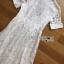 Sweet Feminine White Lace Midi Shirt Dress thumbnail 7