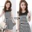 Lady Ribbon's Made &#x1F380 Lady Suzi Basic Chic Striped Mini Dress thumbnail 4