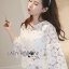 Lady Ribbon Dress Lady Ribbon Korea LR20190516 &#x1F380 Lady Ribbon's Made &#x1F380 Lady Stephanie Little Sunshine White and Yellow Floral Cropped Top ลูกไม้ thumbnail 4