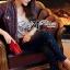Lady Ribbon Korea เสื้อผ้าเกาหลี ของแท้พร้อมส่ง Lady Ribbon Denim LR17250716 &#x1F380 Lady Ribbon's Made &#x1F380 Lady Kim Skinny Jeans with Crystal Embellished thumbnail 4