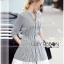 Lady Ribbon's Made &#x1F380 Lady Rosie Minimal Chic Striped Shirt Dress with Lace Trimming thumbnail 5