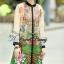Lady Ribbon Korea Closet SW10060616 Sweet Bunny Present... Peacock Printing Shirt Dress thumbnail 3