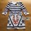 Lady Ribbon Korea Printed Dress thumbnail 6