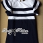 Dress Lady Ribbon Koreain Navy Style เดรส thumbnail 10