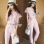 Brand Sevy Two Pieces Of Crop Blouse With Pants Suit Sets thumbnail 1