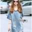 Lady Ribbon Korea LR03260516 &#x1F380 Lady Ribbon's Made &#x1F380 Lady Ashley Smart Casual Ruffle-Sleeve Denim Dress เ thumbnail 6