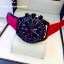 """Omega Speedmaster """" Dark Side Of The Moon"""" - Red Leather Strap thumbnail 2"""