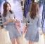 &#x1F380Lady Ribbon's Made &#x1F380Lady Ariana Sweet Feminine French Lace Dress in Light Blue thumbnail 5
