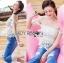 Lady Ribbon Closet เสื้อผ้าเกาหลี LR06140716 &#x1F380 Lady Ribbon's Made &#x1F380 Self-Portrait Off-Shoulder White Lace Corset เสื้อเปิดไหล่ thumbnail 2