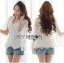 Lady Ribbon Korea Closet LR14010816 &#x1F380 Lady Ribbon's Made &#x1F380 Lady Maria Elegant Double-Breast White Lace Jacket เสื้อคลุมแจ๊คเก็ต thumbnail 1