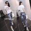 Lady Ribbon's Made &#x1F380 Chanel Vivid Floral Printed T-Shirt and Floral Printed Slouchy Pants Korea Set thumbnail 2