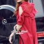 Lady Ribbon Korea SS01300516 Seoul Secret Say's... Coral Red Layer Ornamental Fringe Dress thumbnail 4