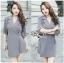 Lady Ribbon Korea Printed Mini Dress thumbnail 4