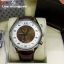 TAG HEUER Carrera Mikrograph 100 Chrono,- White Dial and Brown Starp thumbnail 1