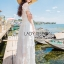 Lady Ribbon Korea Maxi Dress LR02200616 &#x1F380 Lady Ribbon's Made &#x1F380 Lady Reese Royal Sweet Pearl and Butterfly Embroidered Tulle Maxi Dress thumbnail 2