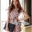 Lady Ribbon Korea Closet Jumpsuit LR13230616 &#x1F380Lady Ribbon's Made &#x1F380Lady Lana Flower Print A-Line Dress เ thumbnail 3