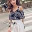 Lady Ribbon Korea Dress LR17060616 &#x1F380 Lady Ribbon's Made &#x1F380 Lady Alana Casual Chic Monochrome Printed Chiffon Jumpsuit จั thumbnail 4