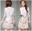 Lady Ribbon Korea Dress เชิ้ต LR20130616 &#x1F380 Lady Ribbon's Made &#x1F380 Lady Paula Feminine Butterfly Embroidered Silk Cotton Shirt Dress thumbnail 1