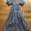 Off-Shoulder Lady Ribbon Checked Dress thumbnail 8