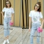 Lady Ribbon Korea Closet SB 07300516 Sweet Bunny Present... Rabbit Jeans Set thumbnail 1