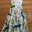 Lady Ribbon Korea Maxi Dress LR15270616 &#x1F380 Lady Ribbon's Made &#x1F380 Lady Sara Floral Blossoms Printed and Embroidered SatinMaxi Dress thumbnail 5