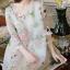 Korea Design By brand cliona Lavida sweety floral printed feminine cream dress thumbnail 3
