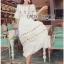 Lady Ribbon Korea Dressเสื้อผ้า LR22010816 &#x1F380 Lady Ribbon's Made &#x1F380 Lady Abigail Hippie Holiday Floral Embroidered Lace and Cotton Maxi Dress เดรสยาวผ้า thumbnail 4