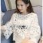 Lady Ribbon Dress Lady Ribbon Korea LR20190516 &#x1F380 Lady Ribbon's Made &#x1F380 Lady Stephanie Little Sunshine White and Yellow Floral Cropped Top ลูกไม้ thumbnail 5