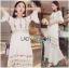 Lady Ribbon Korea Dressเสื้อผ้า LR22010816 &#x1F380 Lady Ribbon's Made &#x1F380 Lady Abigail Hippie Holiday Floral Embroidered Lace and Cotton Maxi Dress เดรสยาวผ้า thumbnail 2