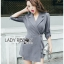 Lady Ribbon Korea Printed Mini Dress thumbnail 3