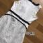 Black & White Lace Lady Ribbon Mini Dress thumbnail 7