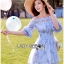 Lady Ribbon Korea Dress ace Silk Dress เดรส thumbnail 6