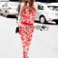 Lady Ribbon Korea LB06160516 &#x1F380 Lady Ribbon's Made &#x1F380 Lady Kimberley Korea Spring Red Floral Printed Collared Top and Pants Set thumbnail 6