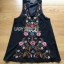 Floral Embroidered Black cotton Dress thumbnail 6