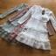 Lady Evelyn Frilled & Ruffle Pastel Lace Dress thumbnail 8