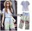 Lady Ribbon Korea LR12190516 &#x1F380 Lady Ribbon's Made &#x1F380 Lady Aimee Summer Casual Birdy Printed Jersey Cotton T-Shirt and Pants Set เซ็ตเสื้อทีเชิ้ต thumbnail 1
