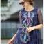 Lady Ribbon Korea Dress &#x1F380 Lady Ribbon's Made &#x1F380 Lady Margherita Mixed Tribal Embroidered Cotton Mini Dress มินิเดรส thumbnail 3