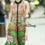 Lady Ribbon Korea Closet SW10060616 Sweet Bunny Present... Peacock Printing Shirt Dress thumbnail 2